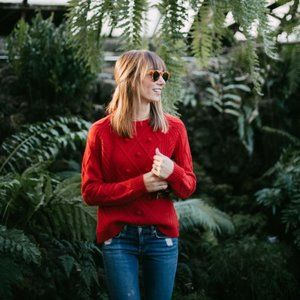 Tommy Hilfiger Red Diamond Open Knit Sweater
